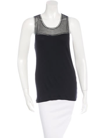 Vanessa Bruno Lace- Accented Sleeveless Top None