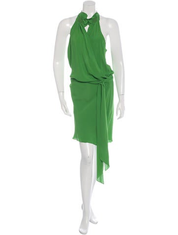 Vanessa Bruno Silk Wrap Dress None