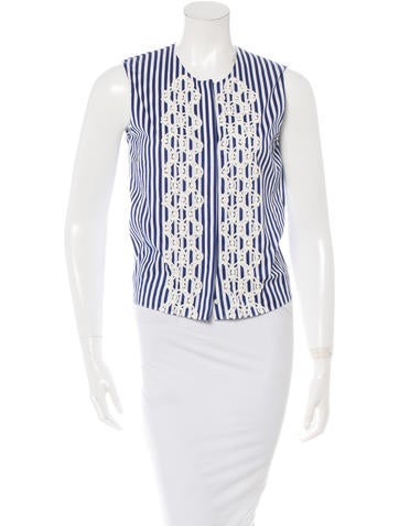 Vanessa Bruno Striped Sleeveless Top None