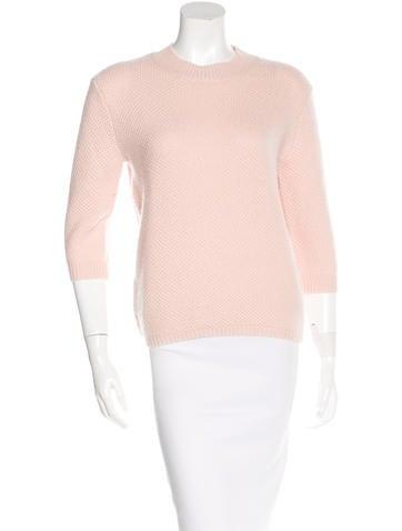Vanessa Bruno Merino Wool & Cashmere-Blend Purl Knit Sweater None