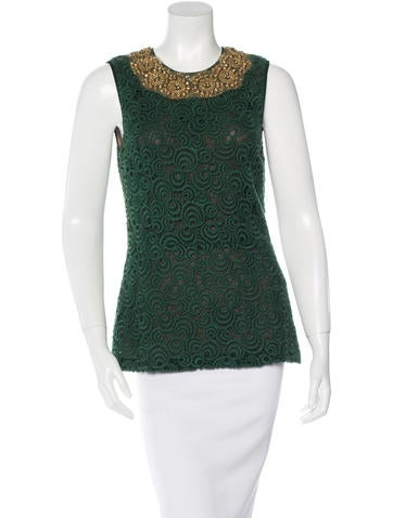 Vera Wang Embellished Sleeveless Top None