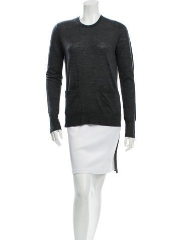 Vera Wang Wool High-Low Top None