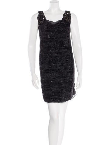 Vera Wang Embellished Mini Dress None