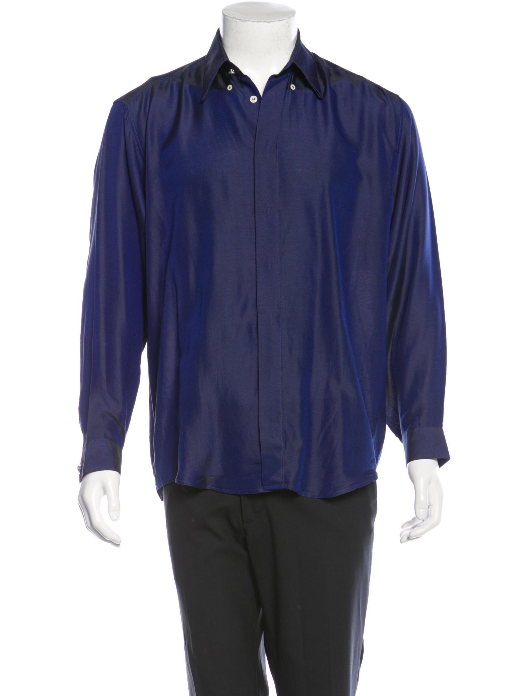 Versace Long Sleeve Button Up Shirt Mens Shirts