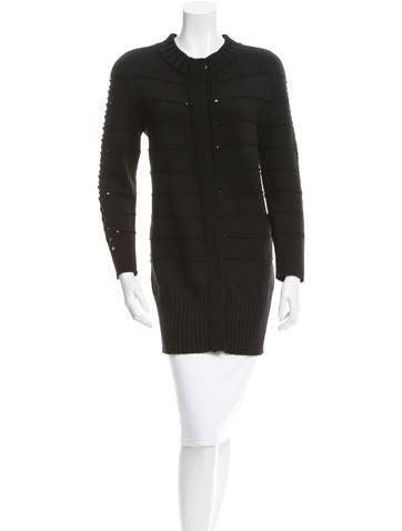 Versace Wool Cutout Cardigan None