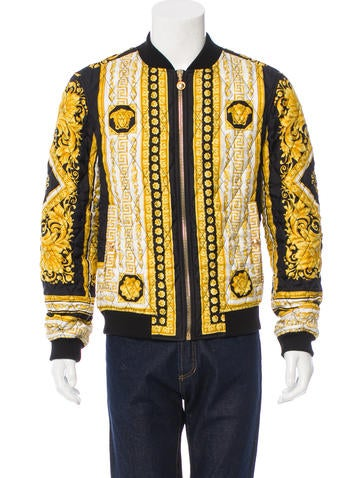 Versace Silk Quilted Bomber Jacket None