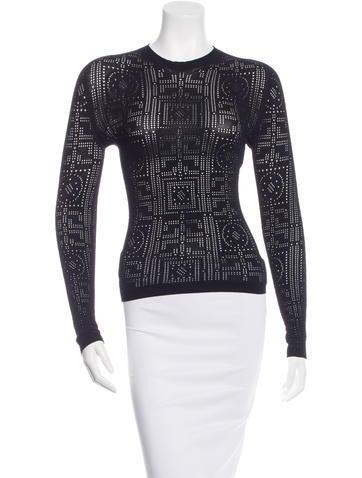 Versace Lasercut Knit Sweater w/ Tags None
