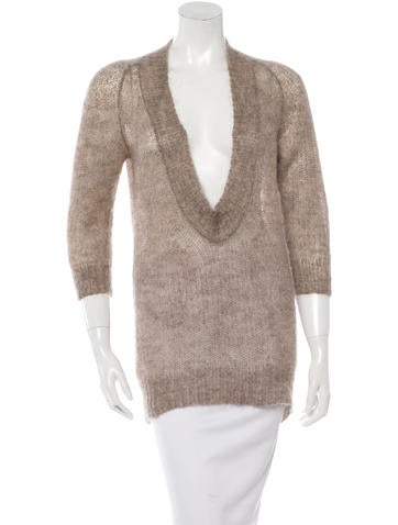 VPL Mohair Open Knit Sweater None