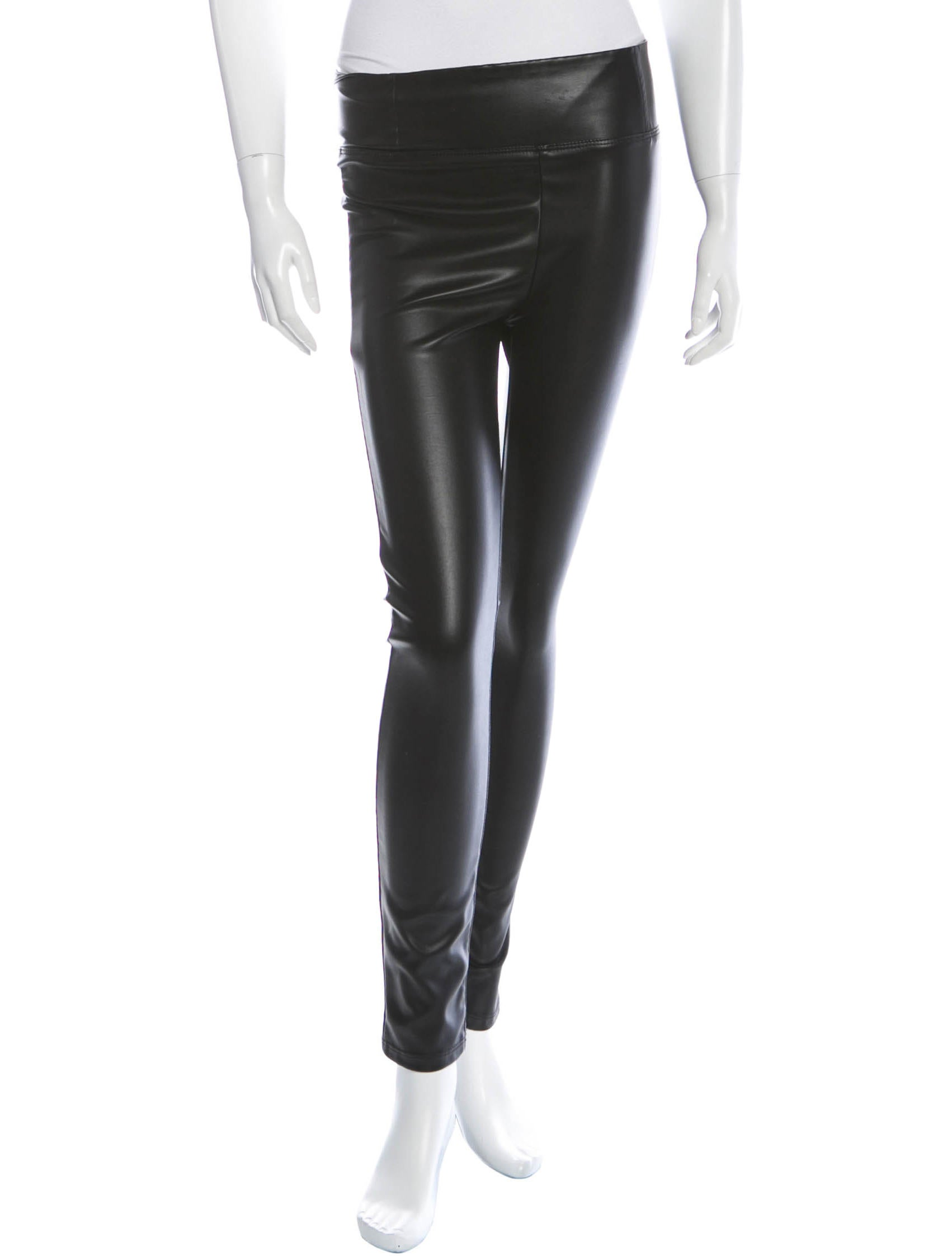 Cool Anthony Vaccarello Slim Vinyl Pants In Black In Black  Lyst