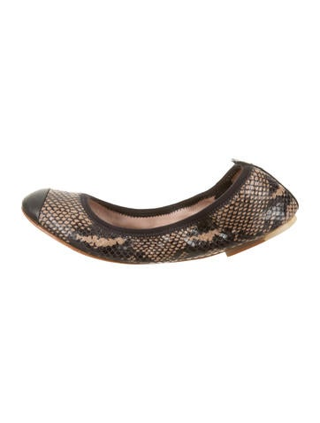Bloch Snakeskin Flats - Shoes
