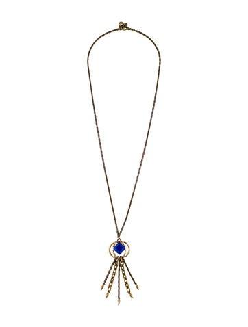 Lulu Frost Crystal Tassel Pendant Necklace