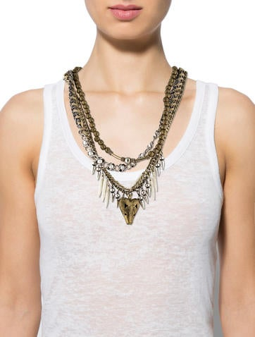 Dannijo Braided Resin and Pearl Collar Necklace