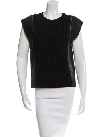 Sachin + Babi Knit-Accented Sleeve Top None