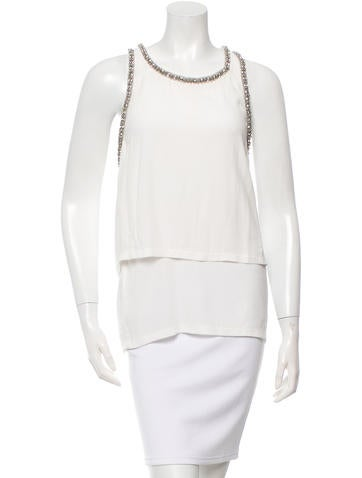 Maje Embellished Sleeveless Top w/ Tags None