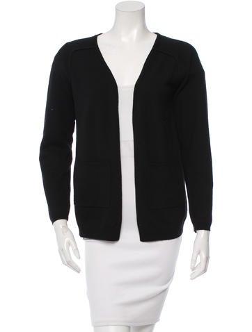 Maje Wool & Silk-Blend Long Sleeve Cardigan None