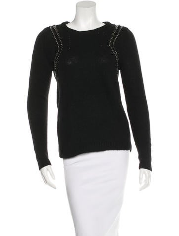 Maje Embellished Knit Sweater None