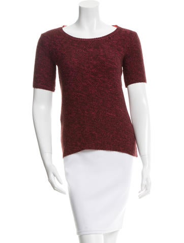 Maje Knit Short Sleeve Top None