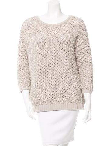 Maje Evangeli Open Knit Sweater None