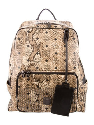 MCM Leather Visetos Backpack None