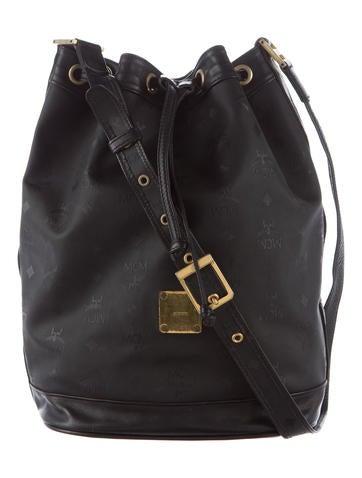 MCM Heritage Drawstring Bucket Bag None