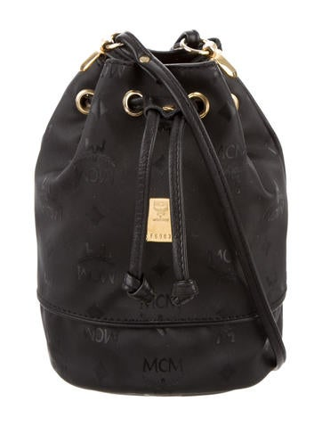 MCM Mini Heritage Drawstring Bucket Bag None