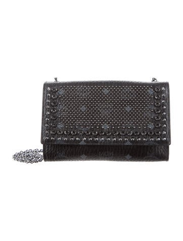 MCM Studded Visetos Wallet On Chain None