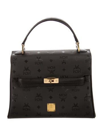 MCM Visetos Nylon Heritage Top Handle Bag None
