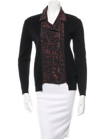 3.1 Phillip Lim Silk-Trimmed Knit Jacket None