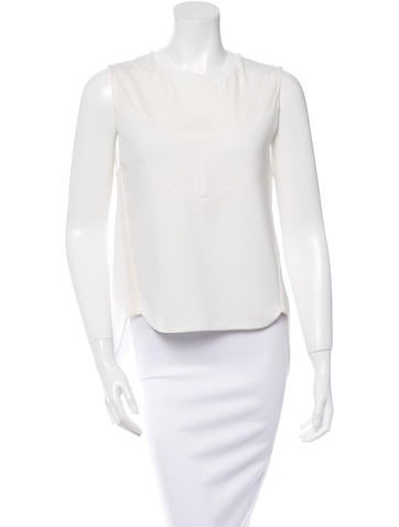 3.1 Phillip Lim Sleeveless Ribbed Top None