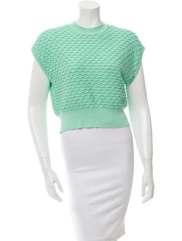 3.1 Phillip Lim Sleeveless Textured Knit Top None
