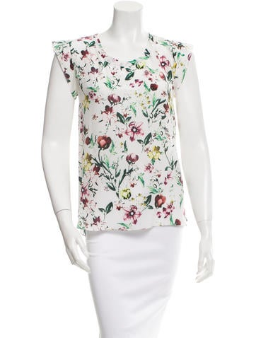 3.1 Phillip Lim Silk Floral Top None