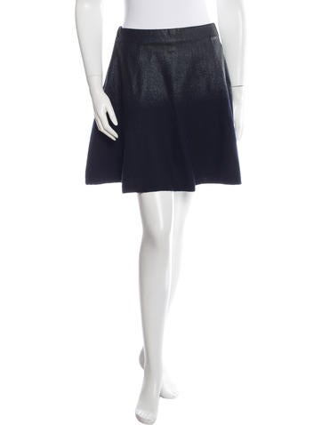 3.1 Phillip Lim Wax Coated Wool Skirt None