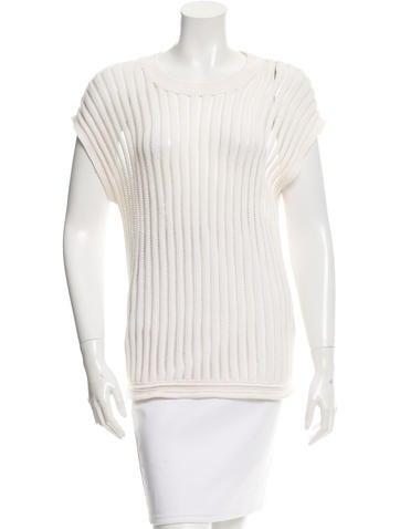 3.1 Phillip Lim Striped Open Knit Sweater None