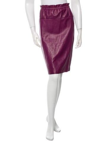 3.1 Phillip Lim Leather Pencil Skirt None