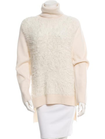 3.1 Phillip Lim Angora-Paneled Wool Sweater None