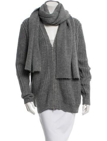 3.1 Phillip Lim Wool Rib Knit Jacket None