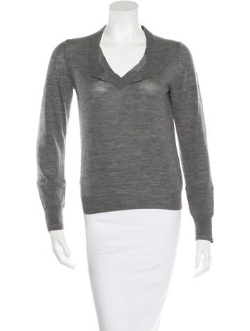 3.1 Phillip Lim Long Sleeve Wool Top None