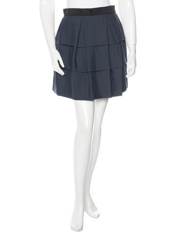 3.1 Phillip Lim Pleated Wool Skirt None