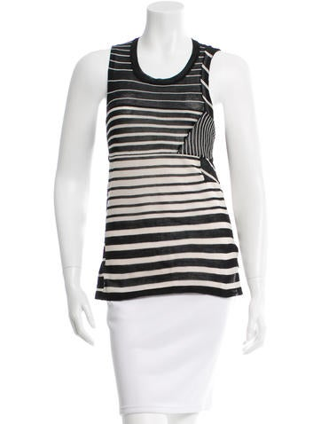 3.1 Phillip Lim Striped Sleeveless Blouse w/ Tags None