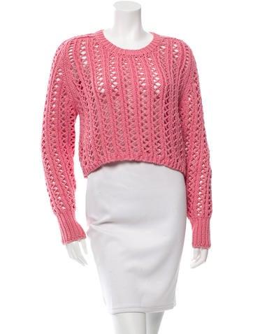 3.1 Phillip Lim Open Knit Crew Neck Sweater None