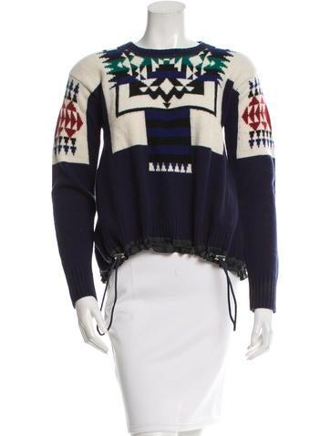 Sacai Luck Wool Flared Sweater None