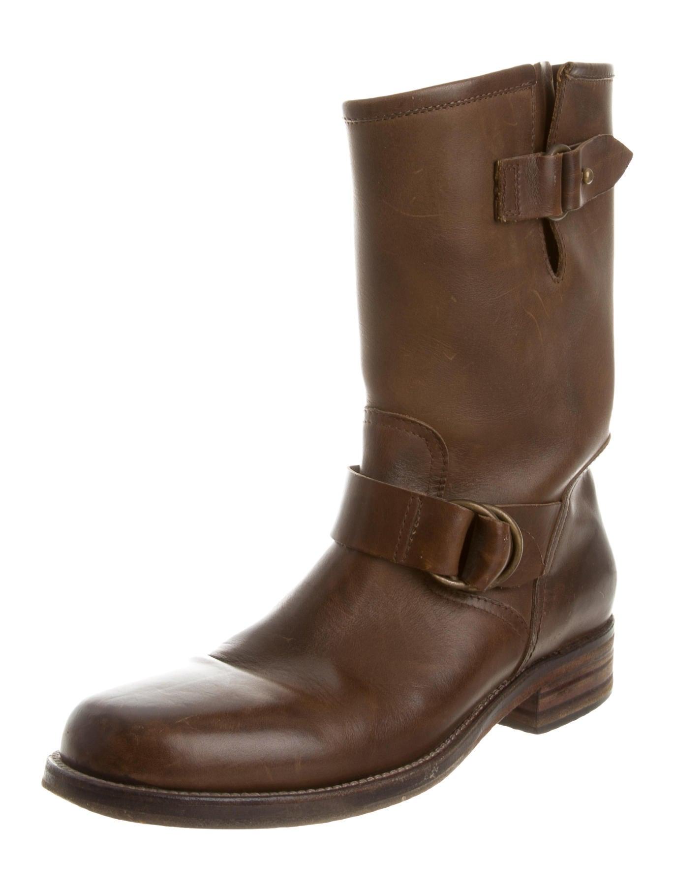 buttero distressed leather boots shoes w6b20017 the