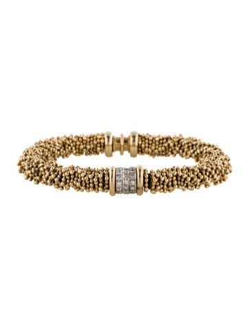 Michael Dawkins 14K Diamond Station Bracelet
