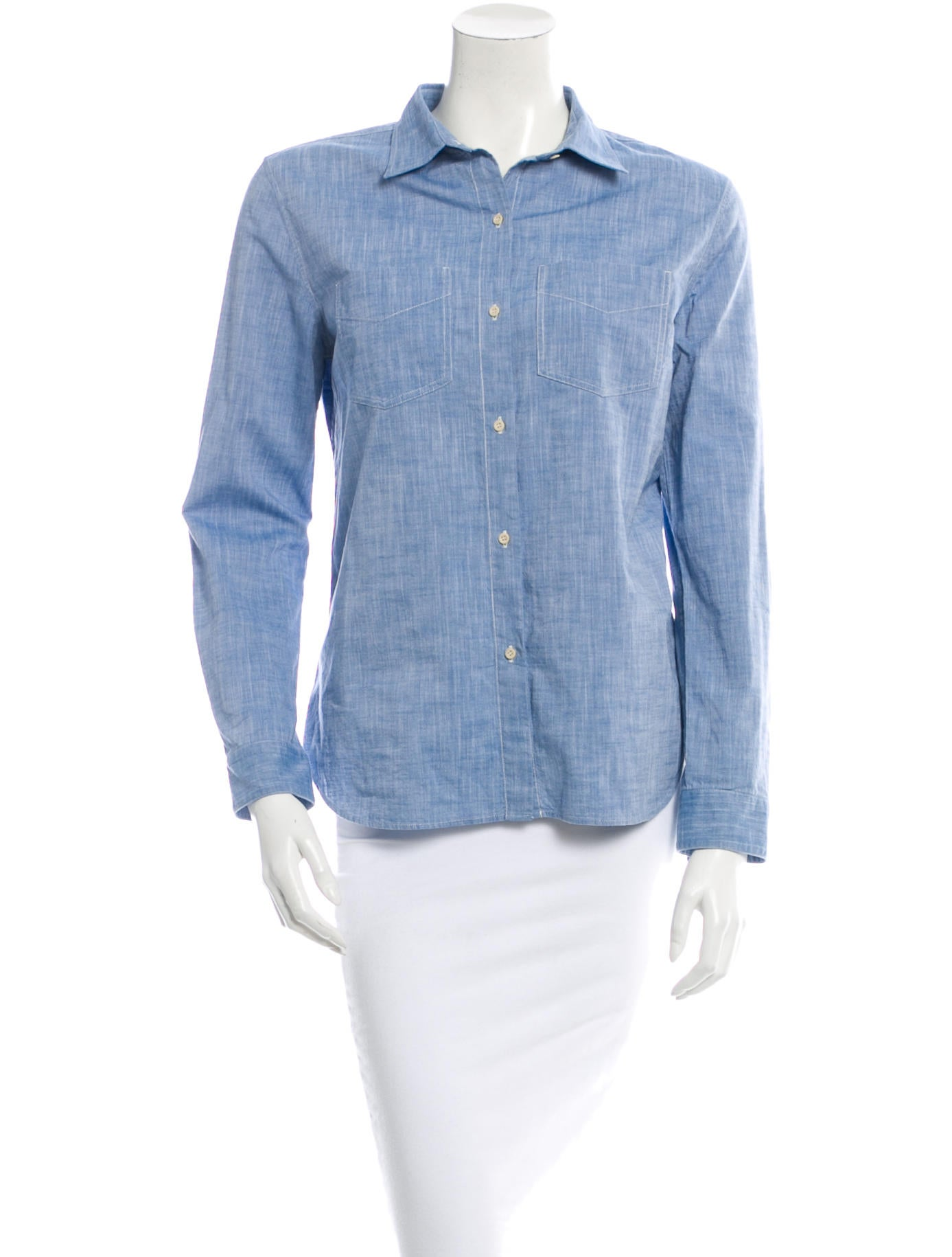 A p c chambray top clothing wa321580 the realreal for Chambray top