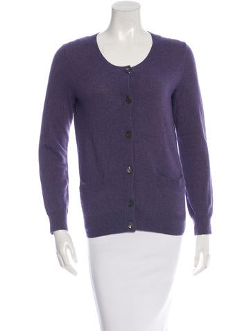 A.P.C. Long Sleeve Scoop Neck Cardigan None