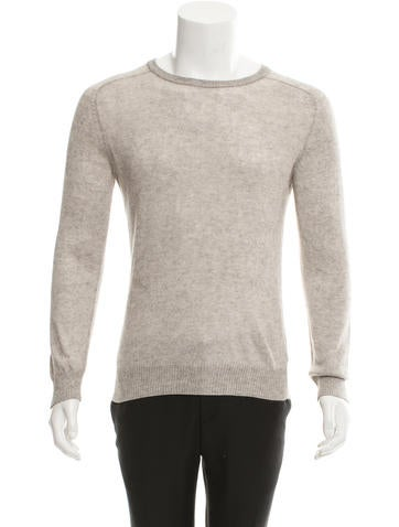 A.P.C. Pullover Rib Knit-Trimmed Sweater None