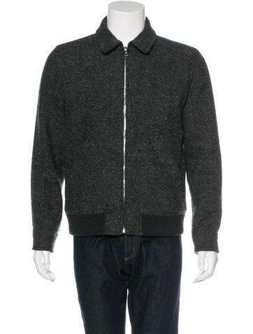 A.P.C. Herringbone Wool Jacket None