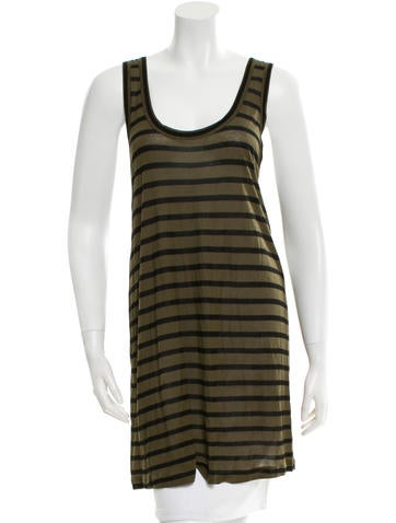 A.L.C. Striped Sleeveless Tunic None