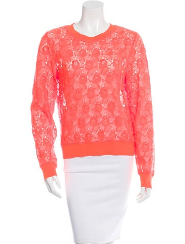 A.L.C. Floral Lace Sweater None