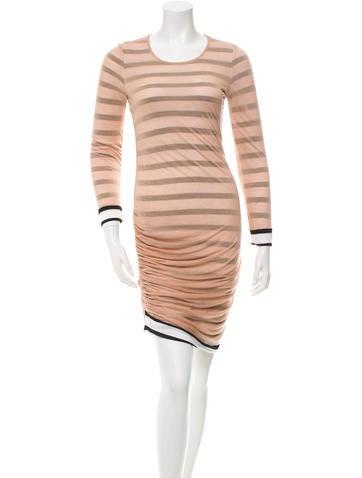 A.L.C. Striped Long Sleeve Dress None